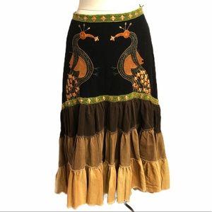 Banana USA corduroy embroidered skirt